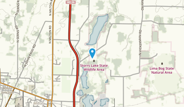 Storrs Lake State Wildlife Area Map