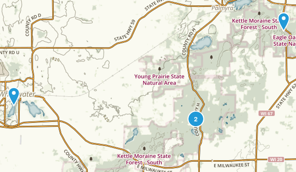 Kettle Moraine State Forest Map