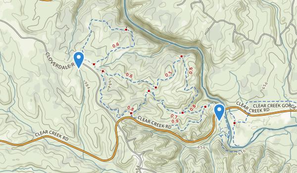 Horsetown Clear Creek Preserve Map
