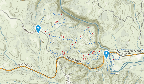 Horsetown Clear Creek Preserve Map