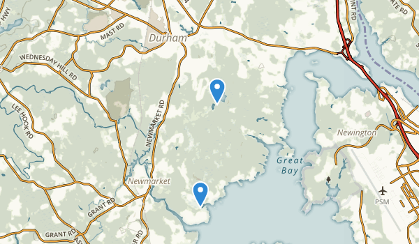 trail locations for Lubberland Creek