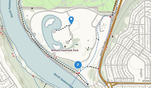 trail locations for William Hawrelak Park