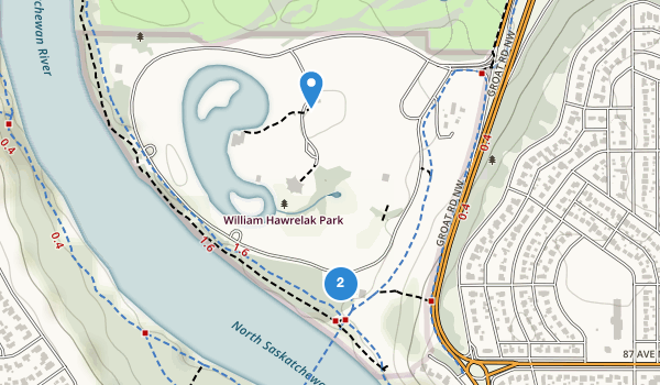 trail locations for William Hawrelak Park
