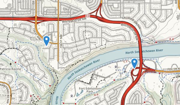 trail locations for Fort Edmonton Park