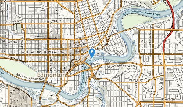 trail locations for Louise McKinney Riverfront Park