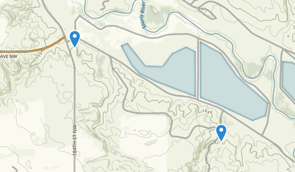 Upper Souris National Wildlife Refuge Map