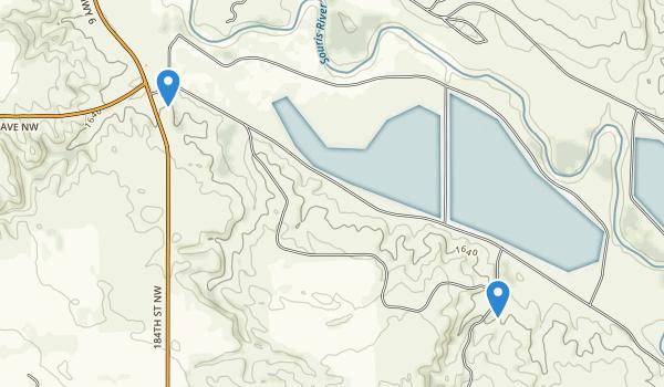 Upper Souris National Wildlife Refuge Map
