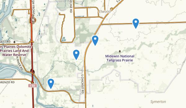 Midewin National Tallgrass Prairie Map