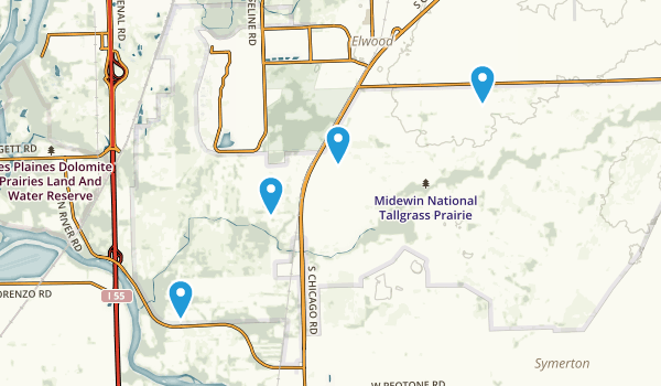 Midewin National Tallgrass Prairie Map