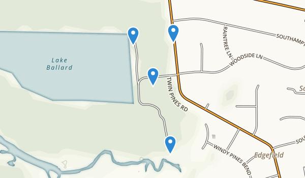 trail locations for Hoffler Creek Wildlife Preserve
