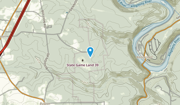 State Game Lands Number 39 Map