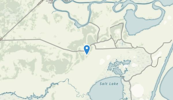 trail locations for Brazoria National Wildlife Refuge