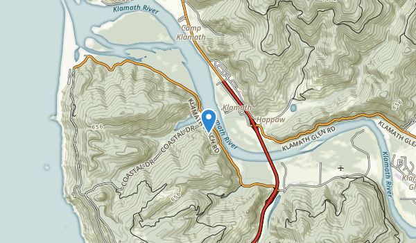 trail locations for Hoopa Valley Indian Reservation