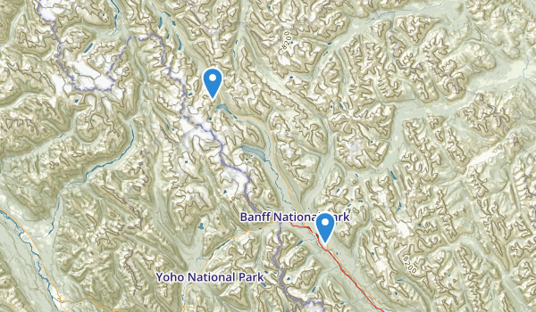 trail locations for Banff National Park