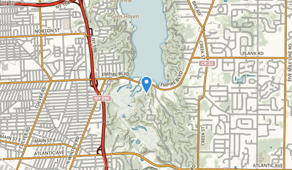 trail locations for Lucien Morin Park