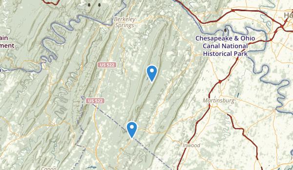 trail locations for Sleep Creek WMA