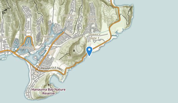 Sandy Beach Park, Oahu Map