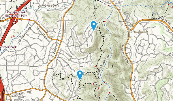Hillcrest Open Space Preserve Map