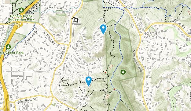 Hillcrest Open Space Preserve Map