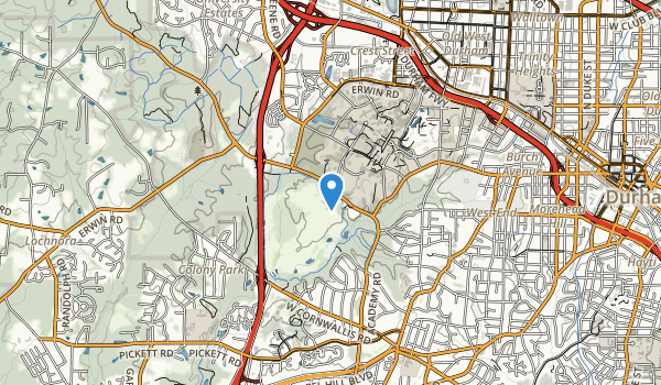 trail locations for Duke University Golf Course