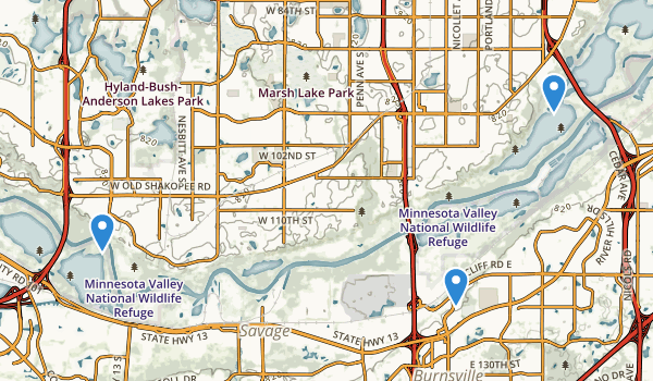 Minnesota Valley National Wildlife Refuge Map