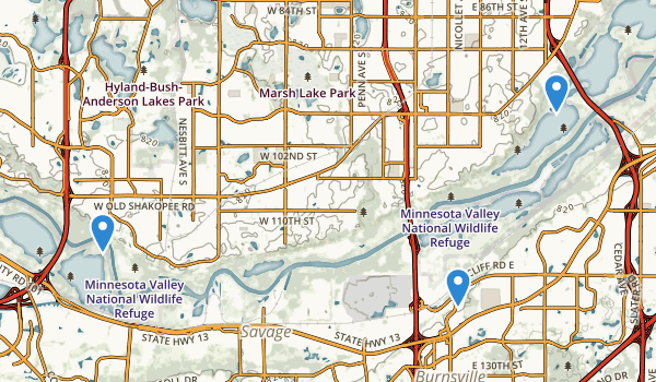 Minnesota Valley National Wildlife Refuge Map