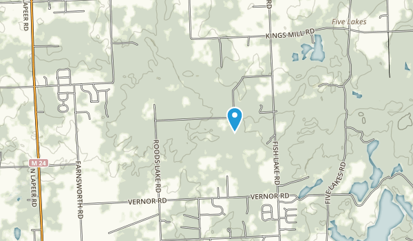 Lapeer State Game Area Map