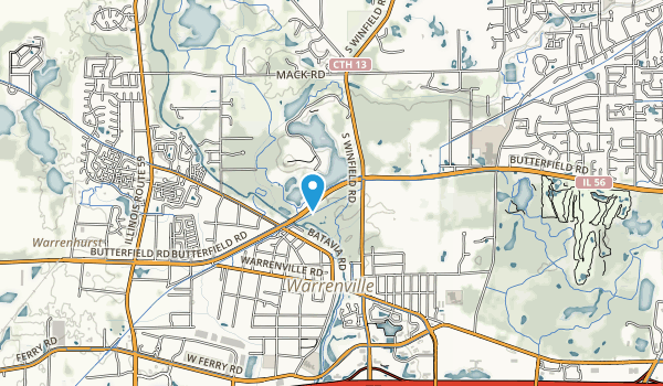 Blackwell Country Forest Preserve Map
