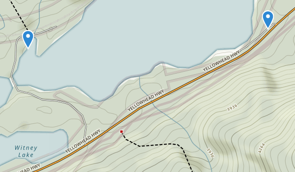 trail locations for Mount Robson Provincial Park
