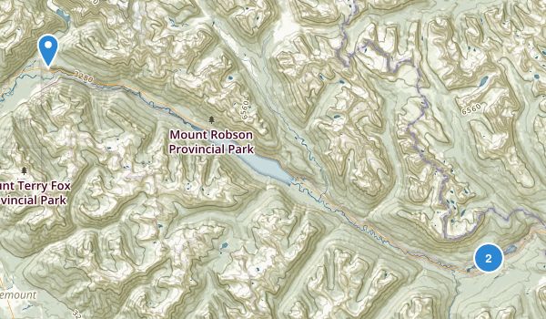 Mount Robson Provincial Park Map