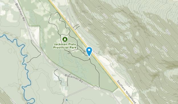 Jackman Flats Provincial Park Map