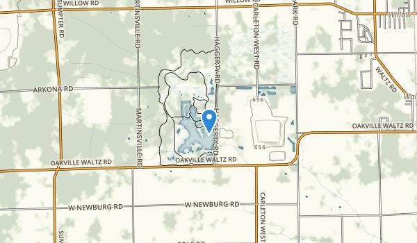 trail locations for Crosswind Marsh Preserve