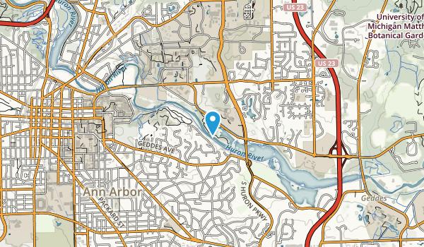 Furstenberg Park, Ann Arbor Map