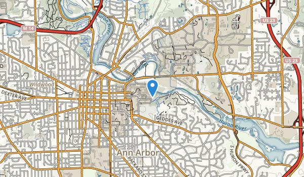 Nichols Arboretum Map