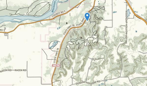 trail locations for Blackhawk Unit