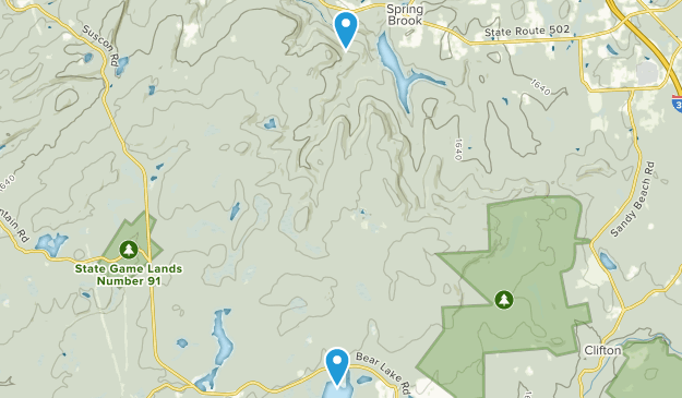 Lackawanna State Forest Map