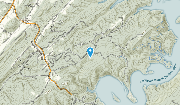 Raystown Lake National Recreation Area Map