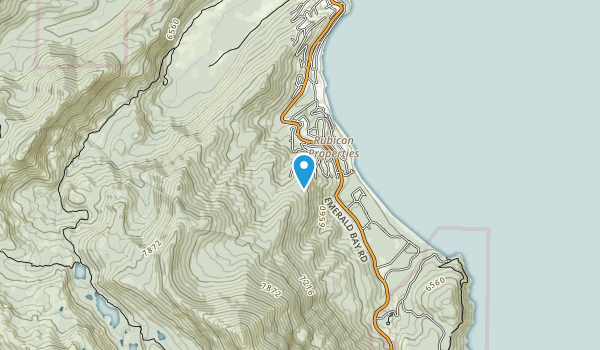 Lake Tahoe, Rubicon Map