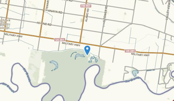 trail locations for Santa Ana National Wildlife Refuge