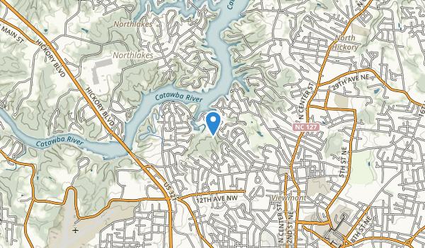 trail locations for Glen C. Hilton Jr., Memorial Park