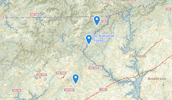trail locations for Chattahoochee National Forest