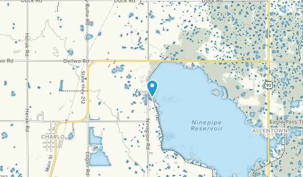 Ninepipe National Wildlife Refuge Map