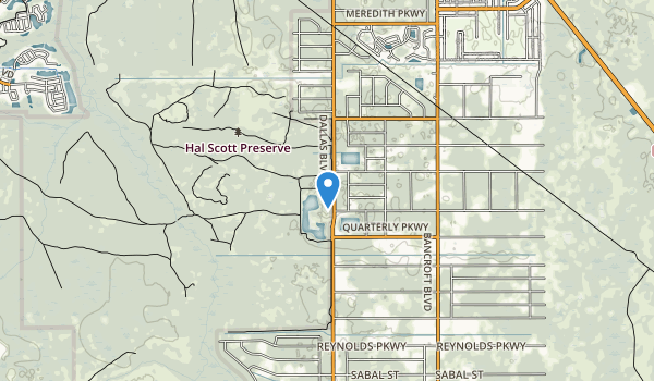 trail locations for Hal Scott Preserve