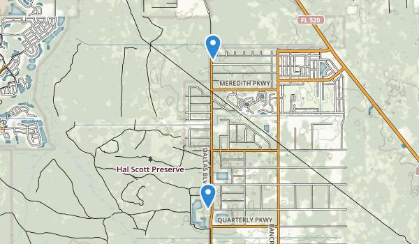 Hal Scott Preserve Map