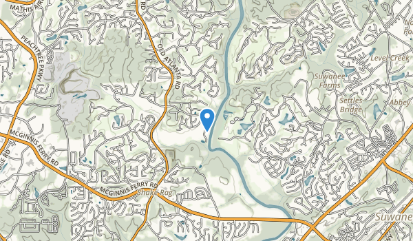trail locations for Chattahoochee Pointe Park