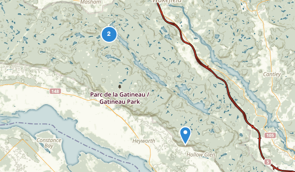 trail locations for Gatineau Park