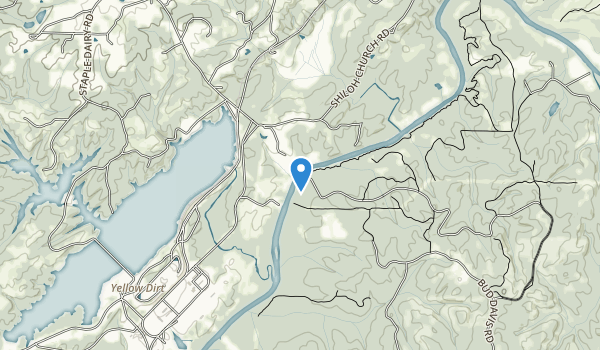 trail locations for Brush Creek Park