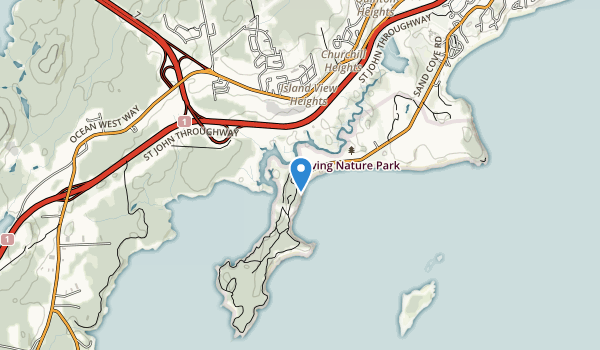 trail locations for Irving Nature Park