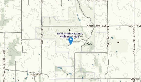 trail locations for Neal Smith National Wildlife Refuge