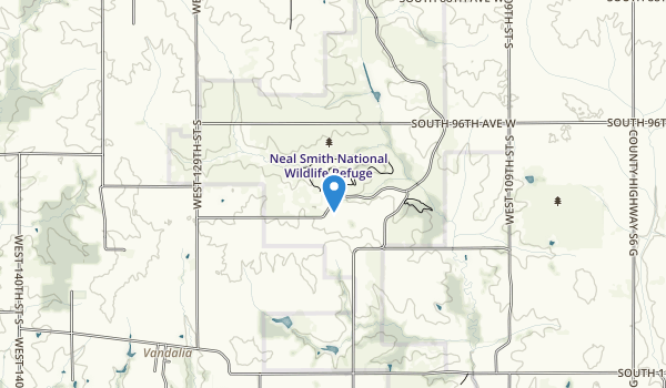Neal Smith National Wildlife Refuge Map